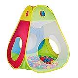 Knorrtoys 55305 - Spielzelt/ Bällebad Brody inkl. 100 Spielbälle 6 cm Durchmesser