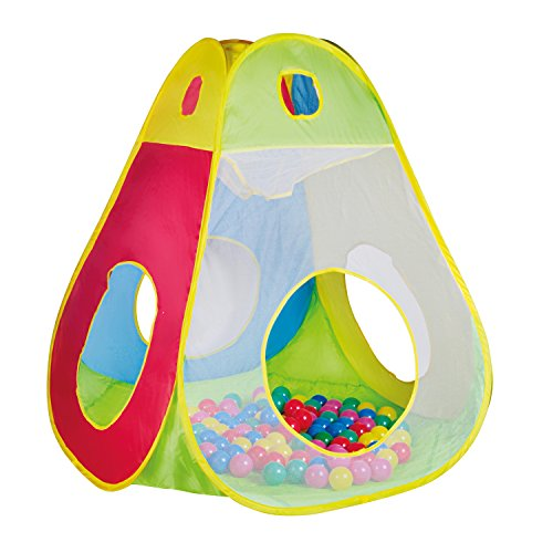 Knorrtoys 55305 - Spielzelt/ Bällebad Brody inkl. 100 Spielbälle 6 cm Durchmesser - Hunde Für Bällebad