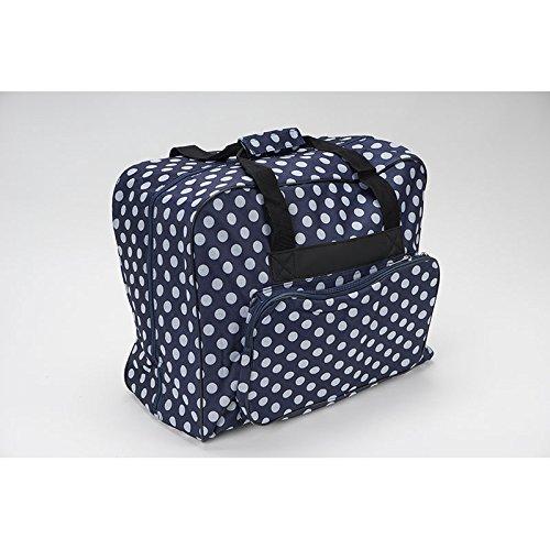 Nähmaschinen Tasche (blau/weiß gepunktet)