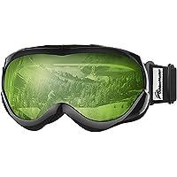 8658ddb194 OutdoorMaster Niños Gafas de esquí- Casco Compatible con Gafas de Nieve  para Niños y Niñas