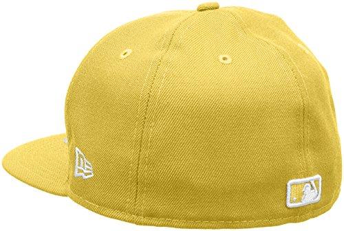 New Era Erwachsene Baseball Cap Mütze MLB Basic NY Yankees 59 Fifty Fitted Cyber Yellow/White