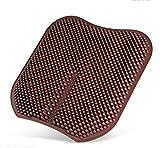 DIELIAN Cuscino del Sedile per Auto Cuscino del Silicone per Pilastro Silica Gel Cuscino Ventilato in Silicone Portatile per Sedia da Ufficio per Casa,Brown