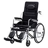 T-Rollstühle Faltender Rollstuhl, Sitzender Multifunktions, beweglicher Bad-Stuhl, Alter Wagen, älterer Roller