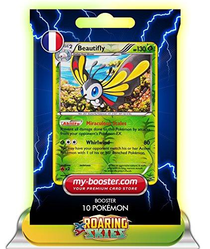 BEAUTIFLY (Charmillon) Holo Reverse 5/108 130HP XY06 Roaring Skies - Booster verbessert Thunderbolt mit 10 Englische Karten Pokemon
