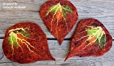 Drei gefilzte Blätter Filzblätter