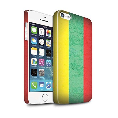 STUFF4 Glanz Snap-On Hülle / Case für Apple iPhone 6+/Plus 5.5 / Mazedonien/Mazedonisch Muster / Europa Flagge Kollektion Litauen/Litauisch