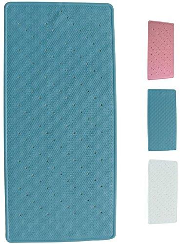 MSV 140203 Duschmatte Badematte Badewannenmatte Badewanneneinlage antibakteriell rutschfest mit Saugnäpfen - ca. 35 x 75 cm - Blau