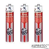 Auprotec® Normfest Karosseriedichtmasse Proton 310ml 1K Kleber überlackierbar grau, 3 Kartuschen