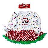 Kleinkind Neugeborenes Baby Tutu Kleid Mädchen Prinzessin Weihnachtsmann Outfits Set