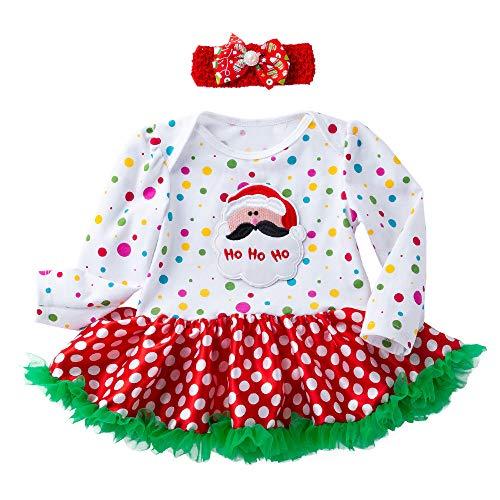 Kinder Kleidung Shopaholic0709 (3-18M) Baby Santa Claus Puff Rock Prinzessin Kleid Anzug Hohoho babysachen mädchen ballkleider1PC Kleid + 1PC Haarband
