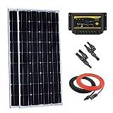 Giosolar 200Watt 12Volt mnocrystalline Solar Panel Starter Kit w/20A LED Charge Controller, Solar Kabel, MC4Y AST Stecker