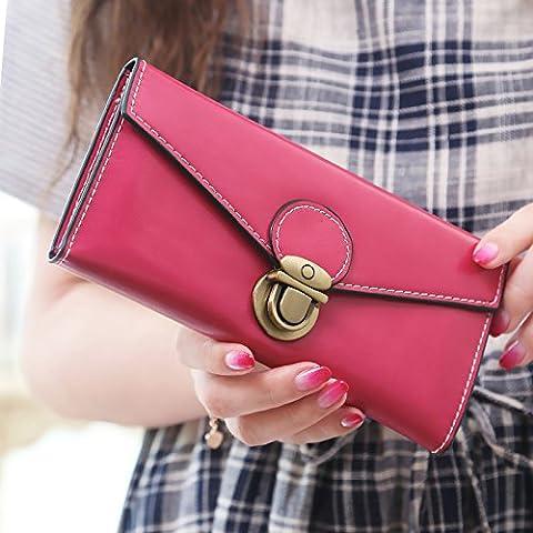 Onorevoli retrò wallet zip di grandi dimensioni attorno al portafoglio
