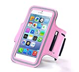 N+ INDIA Vivo V5 Plus Fancy Sports Armband, Black Gym,Running, Jogging,Walking,Hiking,Workout and Exercise Armband Holder For Vivo V5 Pluswith Extra Adjustable-Length Extension Band Baby Pink