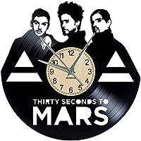 EVEVO 30 Second to Mars Reloj de Pared Vinilo Tocadiscos Retro de Reloj  Grande Relojes Style 8d5f5e022c1