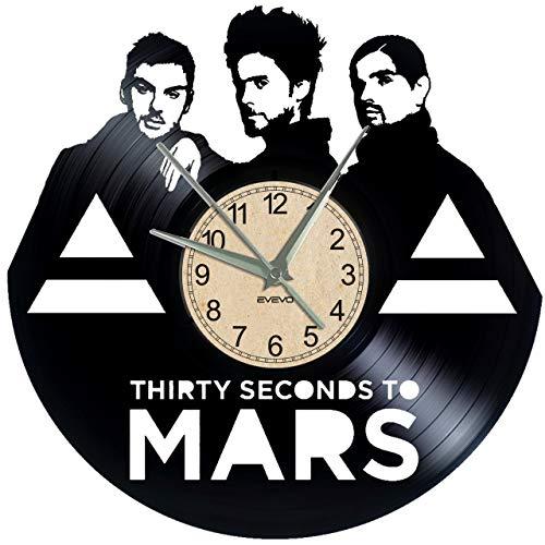 EVEVO 30Second to Mars Orologio da parete dischi in vinile Piastra Retro Orologio da parete orologio grande orologi Style spazio Home Decorazioni bel regalo 30Second to Mars