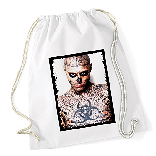 Tattoo Zombie Sac De Gym Blanc Certified Freak