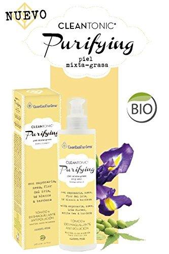 Cleantonic® Purifiant grasse/Mélange Skin – Tonic Bio, Nettoyant, Démaquillant, et la Pollution Detox – Eco Cert (200 ml)