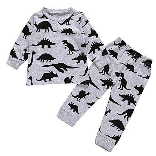 i-uend Baby Pyjamas Sets, Baby Baby Langarm Cartoon Dinosaurier Print Tops + Hosen Kleidung Outfits Für 3-24 ()