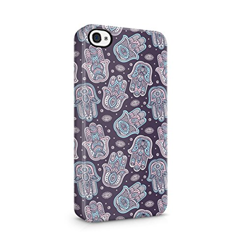 Buddha, Hamsa, Ganesh, Mandala Hindu Pattern Apple iPhone 5 , iPhone 5S , iPhone SE Snap-On Hard Plastic Protective Shell Case Cover Custodia Colourful Hamsa