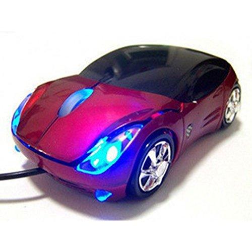 Xiton Premium Extreme Racing Ratón óptico PC - Presente Coche de Deportes de la Forma-Red-Ideal para el Fanático del Coche