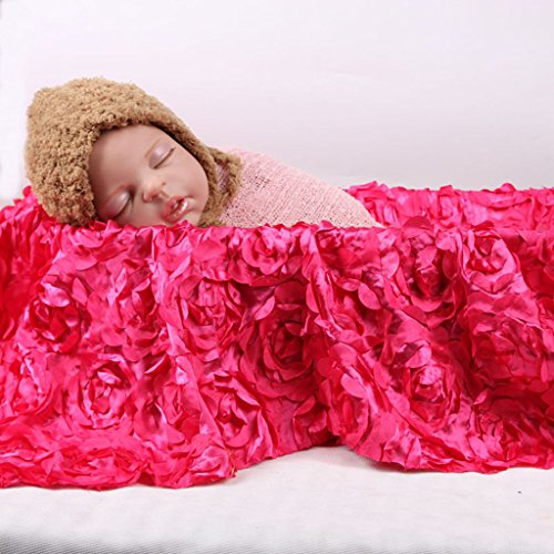 94bbc280eb244c BabyMoon 3D Rose Floral Beautiful Baby Photography Prop Beanbag Blanket  Backdrop Rug