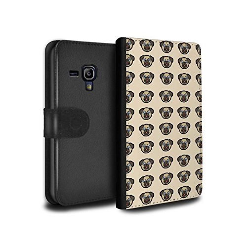 Stuff4® PU-Leder Hülle/Case/Tasche/Cover für Samsung Galaxy S3 Mini/Welpe/Haustiere Muster/Karikatur Mops Kollektion (Fall Welpe Galaxy S3 Samsung)