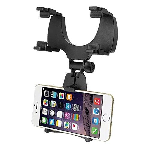 MPTECK @ Supporto Auto cellulare specchietto retrovisore Stand universale per Apple IOS IPHONE 7 7 PLUS Iphone 6 Plus 6s Plus 6 6S 5 5S 4 4S Android Smartphone Samsung Galaxy HTC Sony etc