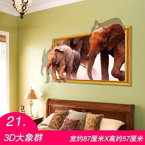 ALLDOLWEGE Pegatinas De Pared Extra Grande Dibujo 3D Habitación Niños Dormitorio Salón...