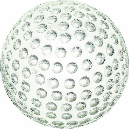 Longridge Uni Briefbeschwerer Kristall Golfball, Weiß -