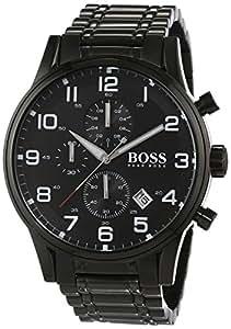 Hugo Boss - 1513180 - Aeroliner - Montre Homme - Quartz Analogique - Cadran Noir - Bracelet