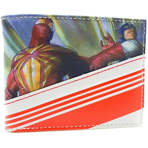 Marvel Streifen Mehrfarbig Portemonnaie (Kind Kostüm Iceman)