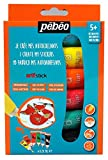Kit descubrimiento pintura stickers arti' Stick Pébéo–6x 20ml