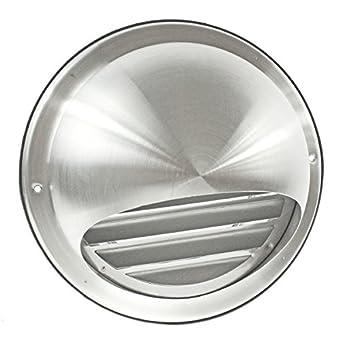 spares2go Bull externe au nez rond en acier inoxydable mur d'extraction d'air sortie d'aération avec moustiquaire Grille (150mm, 15,2cm)