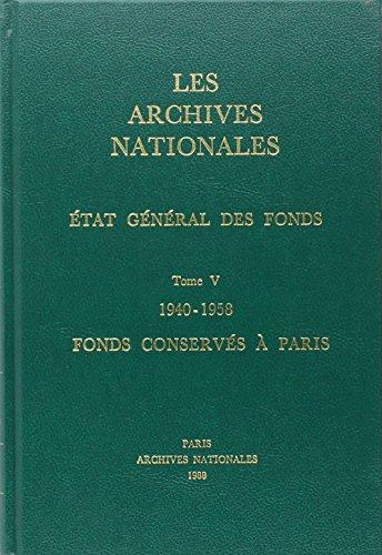 Etat General des Fonds T5-1940-1958