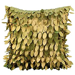 3D Fallen leaves wedding Decor divano cuscino Home throw Pillow case, Satin, Bronze, taglia unica