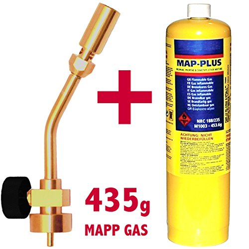 Gas Torch Adapter Lindal Valve Canister to MAPP Camping Stove Burner