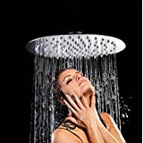 ARTBATH 1000JX, ARTBATH Large 10 Inch Rainfall Shower Head Wall Mounted Ultra Thin Round 304 Stainless Steel Rain Shower Head High Pressure Chrome (DIY & Tools)
