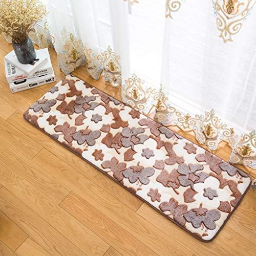 OMUSAKA New Coral Velvet Printed Maple Leaf Carpet Schmutzabweisendes Vakuum-Anti-Rutsch-Absorptionsmittel für die Badezimmermatte im Wohnzimmer -