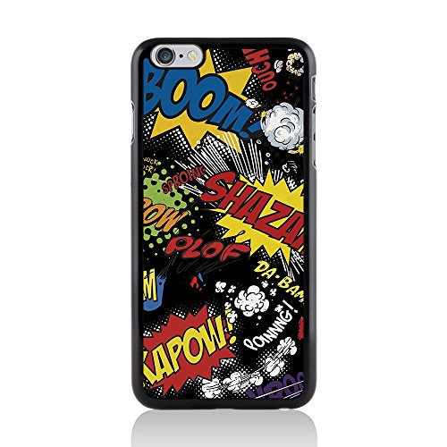 Apple iPhone 6 Plus/6s Plus Comic Capers Coque arrière rigide/Coque par Call Candy Kapow Black