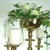Großer Glasaufsatz Klar Glas Teelichthalter f. Kerzenleuchter Teelichtaufsatz 15cm WOW