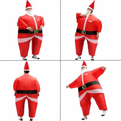 Bazaar AirSuits Aufblasbares Santa Vater Weihnachten Kostüm Kostüm Luft Blimp ()