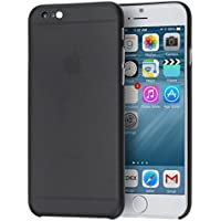 doupi Cover UltraSlim per Apple iPhone 6, iPhone 6S (4,7 pollici) satinata, Custodia protettiva rigida, Nero