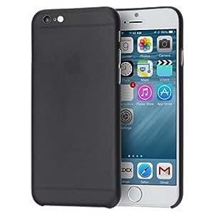 doupi, Cover UltraSlim per Apple iPhone 6, iPhone 6S (4,7pollici) satinata, Custodia protettiva rigida, Nero