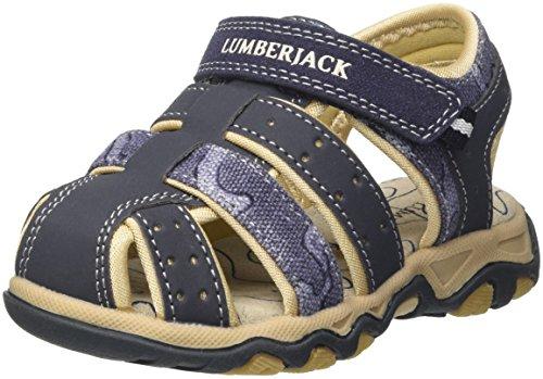 Lumberjack levi 012r61, sandali punta chiusa bambino, blu (navy blue), 34 eu