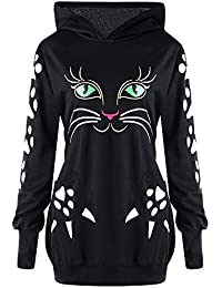 Hannea Plus Size Cat Hoodie with Ears