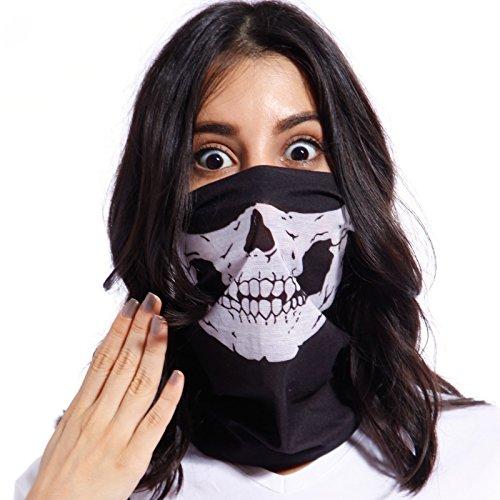 3x Sturmmaske Totenkopf Skull Maske Multifonction Sturmmaske Ghost f. Motorrad Fahrrad Ski Gamer Karneval (Habe Kostüme Halloween)