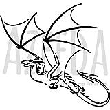 A5 'Volo del Drago' Stencil di Parete (WS00001942)