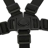 5 Punti Bambino Sicuro Cintura Nera Per La Sedia Passeggini Buggy Carrozzina Cinghia Cablaggio