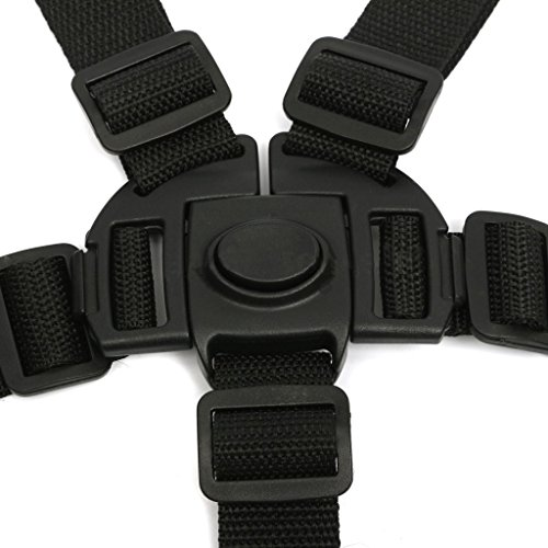 Imported 5 Point Baby Safe Black Belt For Stroller Chair pram Buggy Strap Har...-55000287MG  available at amazon for Rs.365