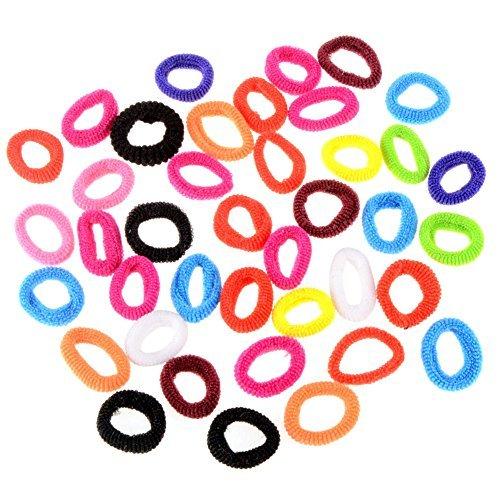100PCS Mädchen Kleinkind Kids Elastic Hair Bands Haargummis Schleifen Boutique (Kleinkind Boutique)